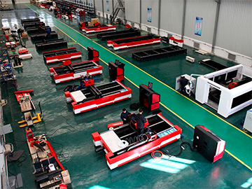 Fiber laser cutting machine workshop