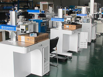 Laser marking machine workshop
