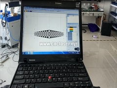 3D laser engraving machine make bracelet design on stainless steel