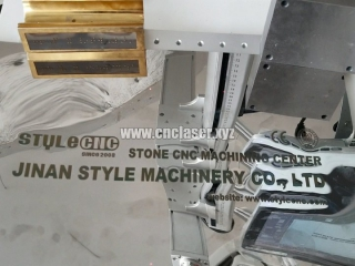 Fiber laser marking machine working on stainless steel
