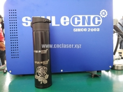 Marking flower on cups by 3D fiber laser engraving system