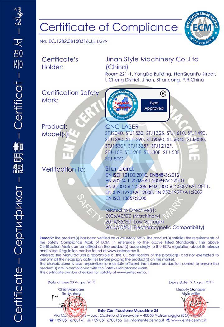 Stylecnc Honor And Certificate Stylecnc Laser