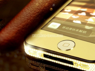 Laser engraving machine is used in iphone screen