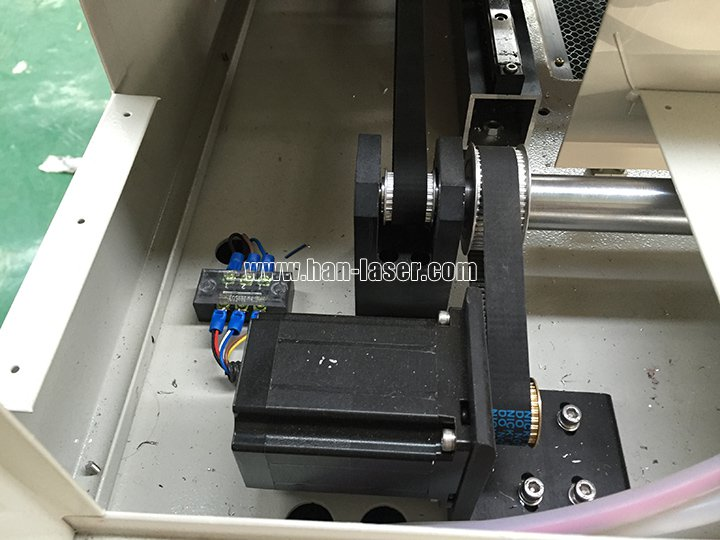 stepper motor of co2 laser cutting machine with CCD camera