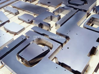 Laser cutting machine in sheet metal processing