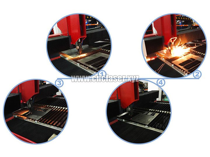 High power laser cutting machine for metal process