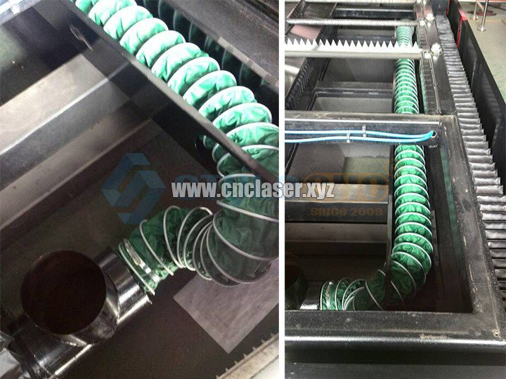 fiber laser cutting machine Purging system