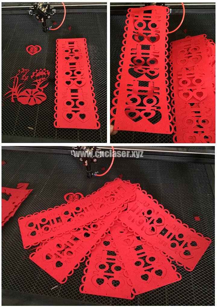 Laser paper cutting machine for wedding invitation card