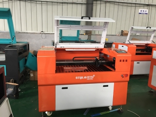 Customized CNC laser 6090 with 80W RECI tube with new orange color