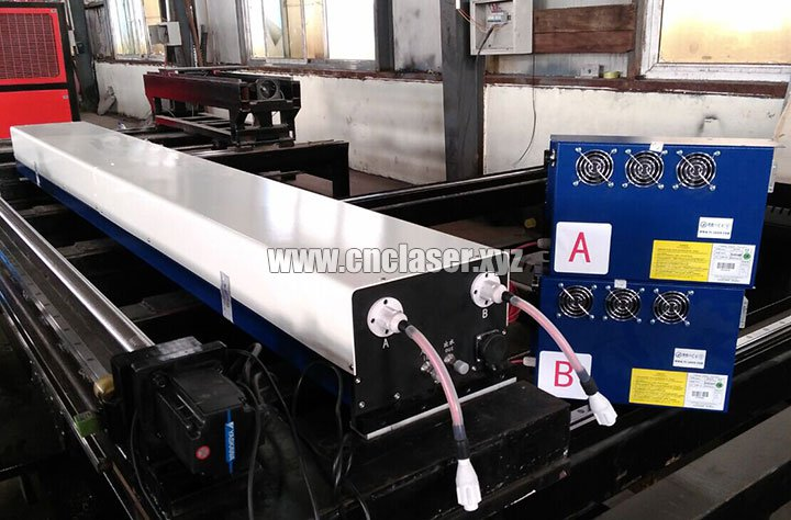 260W co2 stainless steel laser cutting machine pictures 3