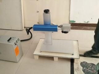 New portable fiber laser marker delivery for our America cusotmer