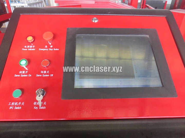 300w fiber laser cutting machine control panel