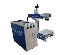 Portable color fiber laser engraving machine for metal