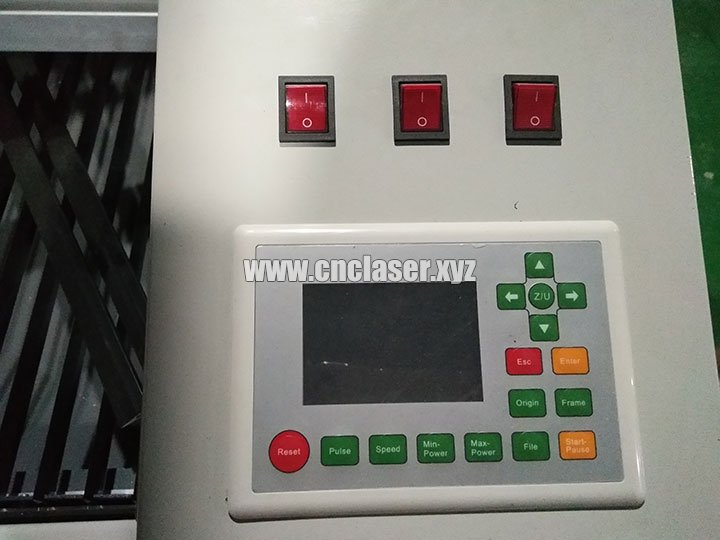 laser cutting machine control panel