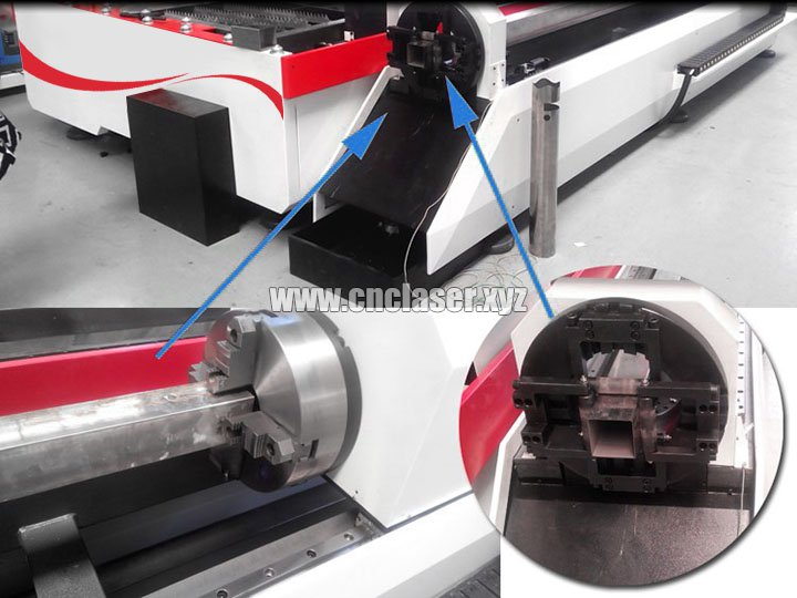 Steel plate and tubes fiber laser cutting machine
