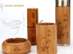 Wood products made by laser engraving and cutting machine