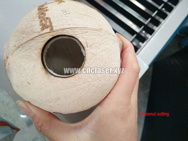 laser cutting machine for coconut