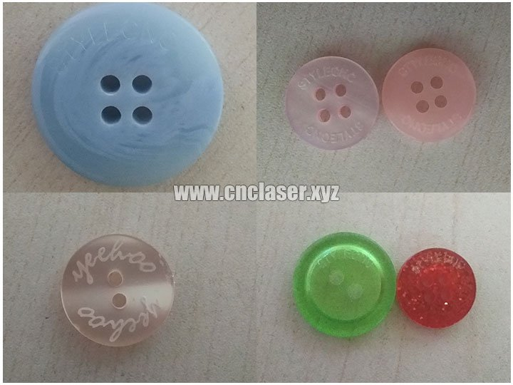 button samples of  CO2 Laser Marker