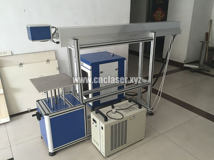 CO2 laser marking machine with glass tube
