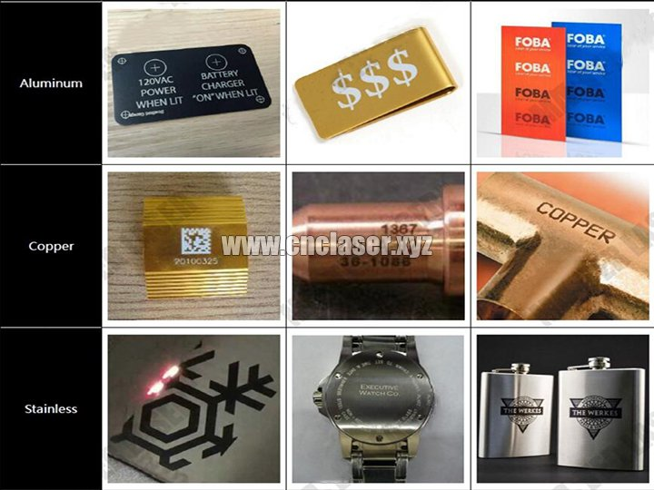 fiber laser marking machine sample