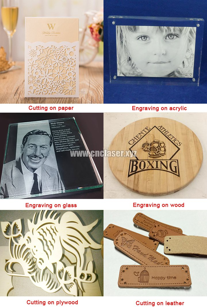 Laser engraving and cutting machien samples