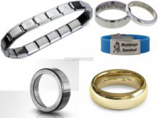 Using laser engraving machine for engraved ring