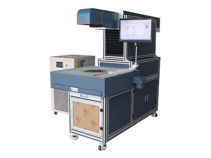 3D dynamics CO2 laser marking systems for fabric, greeting cards