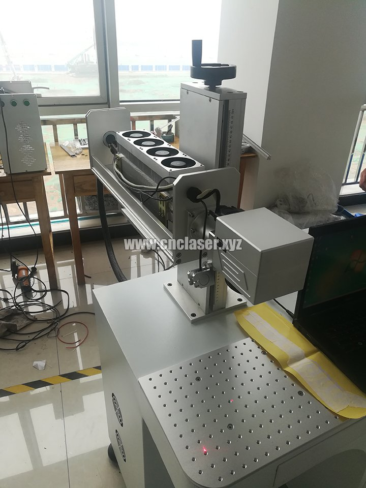 CO2 RF metal tube marking machine